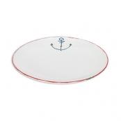 Тарелка керамическая с якорем большая