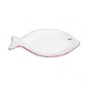 Тарелка керамическа рыба